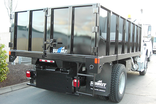 Summit Flatbeds can be customized with side and rear walls, plus a variety of other options.