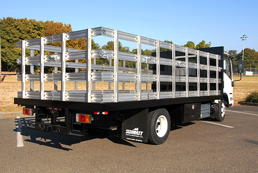 Summit Flatbed Options range from 8 to 28 feet.