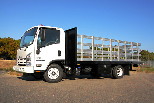 Aluminum or steel-stake side truck body options available.